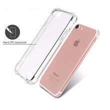 Ultra Thin Slim Transparent Soft TPU Phone Case For iPhone 7 8 Plus Capa Clear Cases For iPhone X 6s 8 7 Plus 6 Case Dust Plug 3(China)