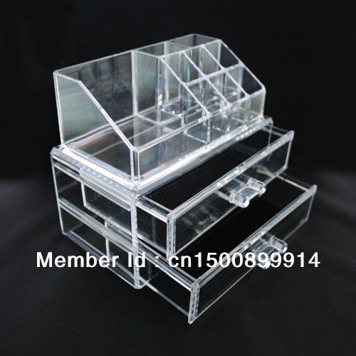 Wholesale Fashion Acrylic Makeup Organizer Jewelry Display Stand Birthday Gift Box SF -1063 DHL/Fedex/UPS Free Shipping