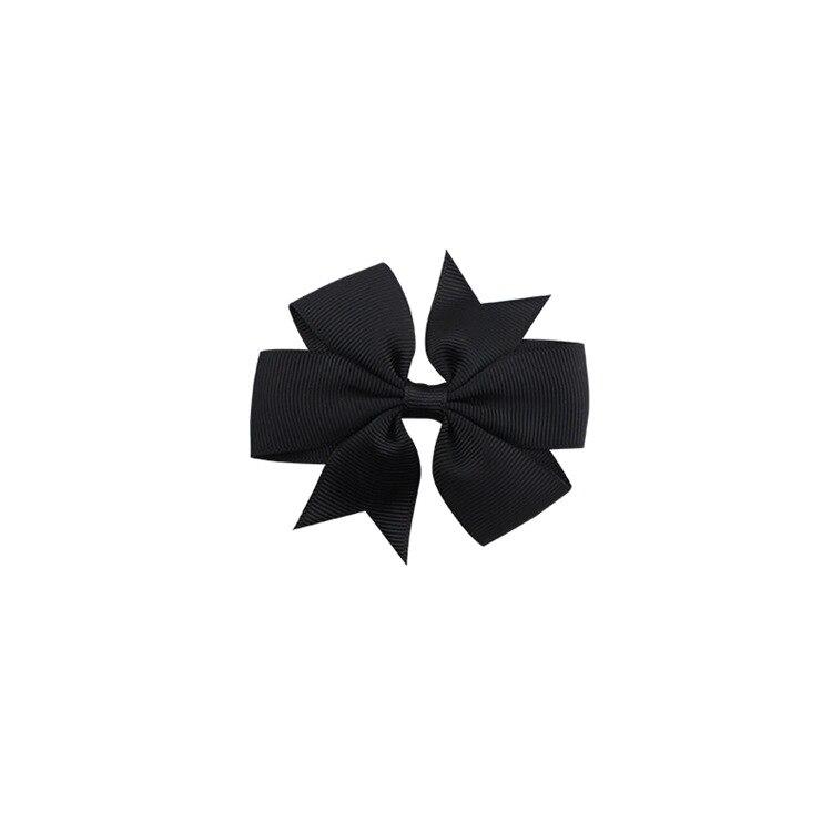 40 цветов сплошная корсажная лента банты заколки шпилька девушка бант для волос, бутик заколки для волос аксессуары для волос - Color: a01 Black