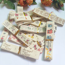15pcs/lot 20mm Mixed  Printed 100% Cotton Ribbon for DIY Sewing Accessories Skirt Full Curtain Sofa Diy Lace TRIM