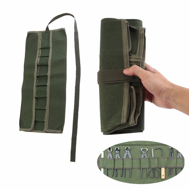 Tool Bag Oxford Canvas Chisel Roll Rolling Repairing Utility Multifunctional With Carrying Handles Garden