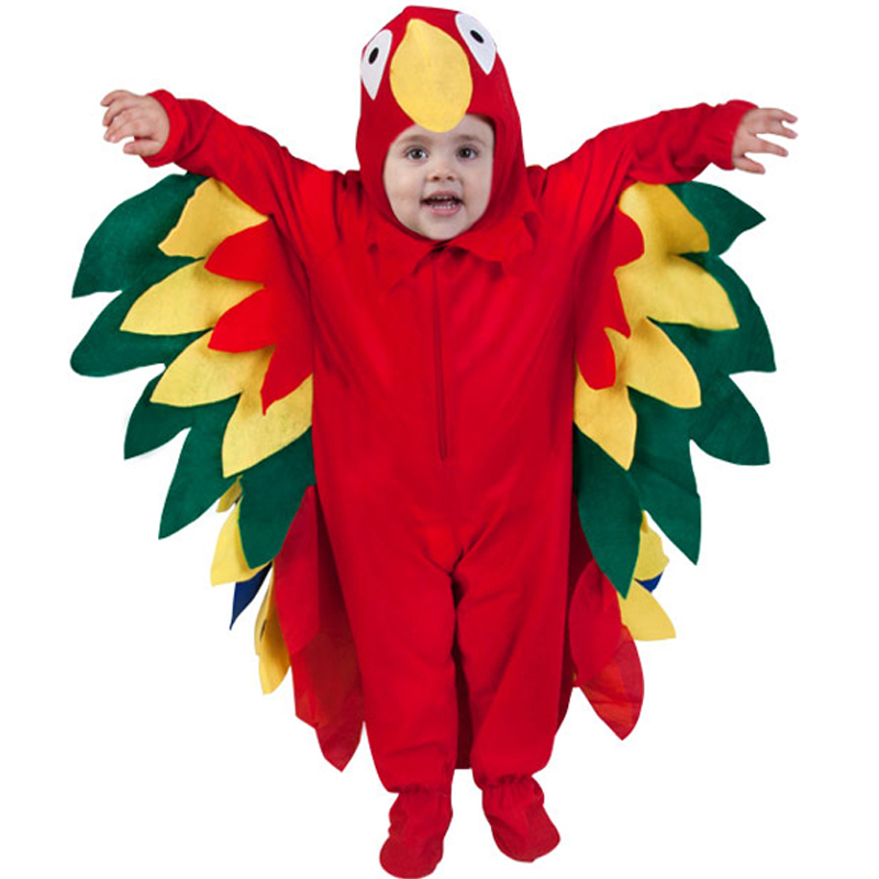 Baby Parrot Costume Kids' Birds Fun Costume Baby Animal Costume Baby Halloween Party Costume