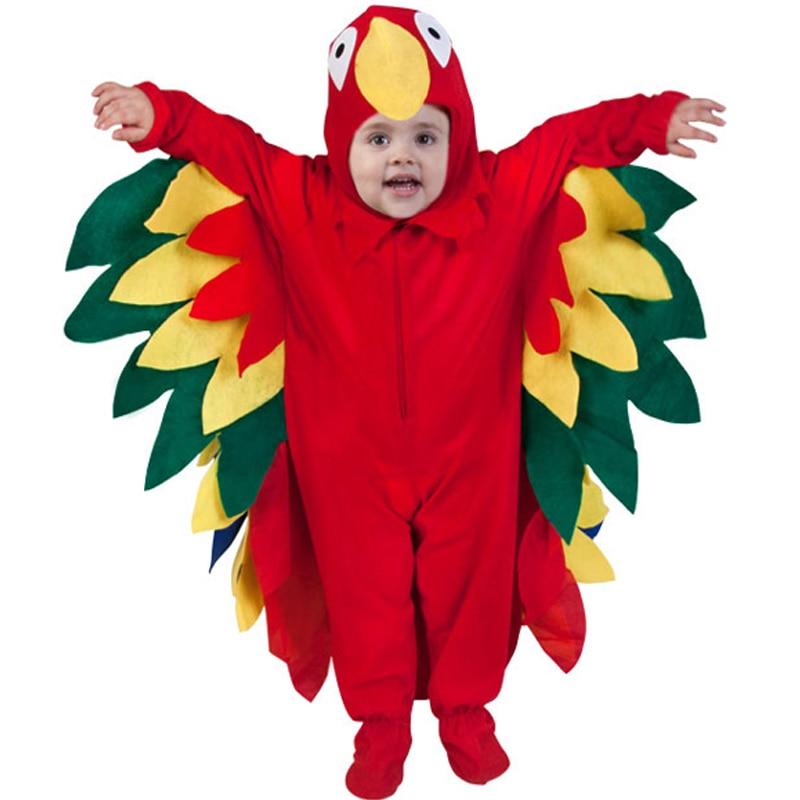 Baby Parrot Costume Kids' Birds Fun Costume Baby Animal Costume Baby Halloween Party Costume
