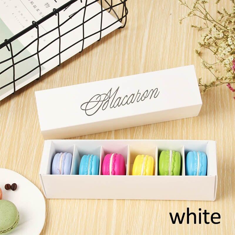 Макаронная упаковка, коробка, красиво упакованная, для свадебной вечеринки, для хранения торта, бумажная коробка для печенья, украшения торта, Аксессуары для выпечки - Цвет: Белый