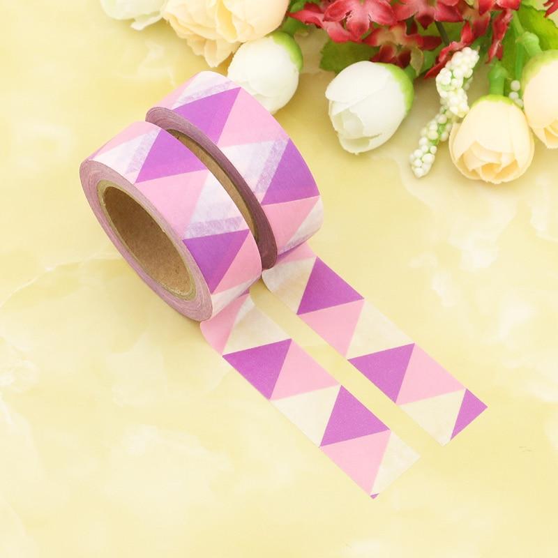 1PCS New Triangle Washi Tape 15MM*10M Kawaii Fita Adesiva Decorativa For Gift Packing Wedding