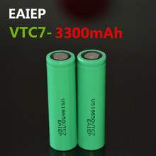 2PCS EAIEP brand new original US18650VTC7 3300mAh lithium ion battery 18650 3.7V power rechargeable battery EAIEP original 3 7v 150mah 20c lithium ion battery