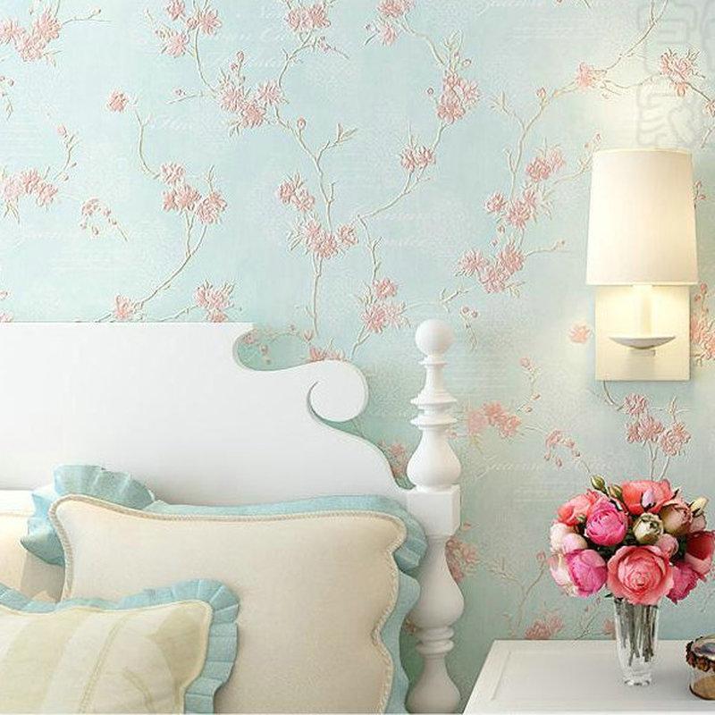 3d Non-woven Garden Flowers Warm Wallpaper Wallpaper For Walls Decor Embossed 3D Wall Paper Rolls For Bedroom Living Room Sofa