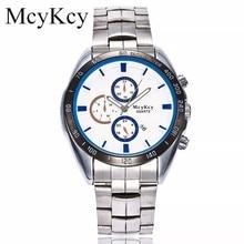 de669e5b7f6 Nova Marca McyKcy Populares Homens Relógio À Prova D  Água Mens Relógios  Simples Casual Esporte Quartz Presente Relógio de Pulso.