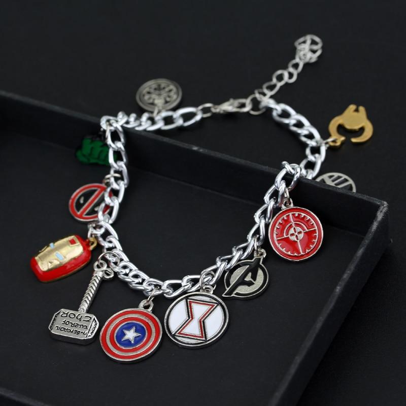 dongshengSuperhero Marvel Avengers Emalj Logo Captain America Iron - Märkessmycken - Foto 3