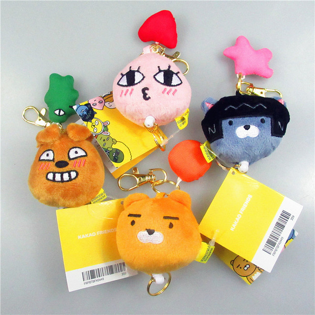 4pc Lot New Cartoon Kakao Friends Ryan Plush Toys Korean Fashion
