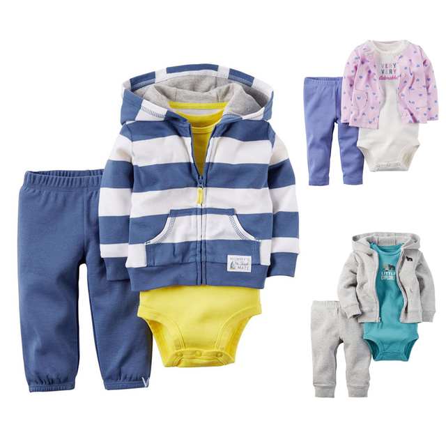 2017 Baby Rompers Spring Baby Boys Clothing Sets Long Sleeve Baby Girls Clothes Newborn Baby Clothes Roupa Bebes Infant Jumpsuit