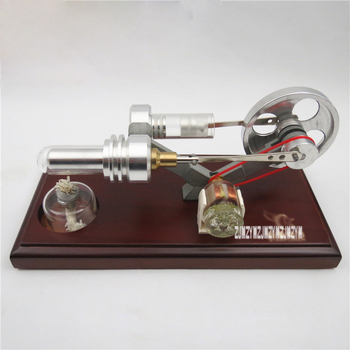 New Arrival QX-FD-03 Decoration Crafts Generator Model ,4 LED Air Engine Funny Education Model for gift/ Toy