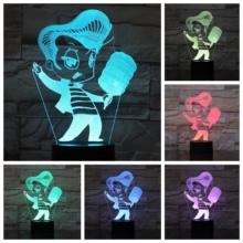 The King Figure Usb 3d Led Night Light Multicolor Rgb Boys Child Kids Baby Gifts Elvis Presley Atmosphere Table Lamp Bedside
