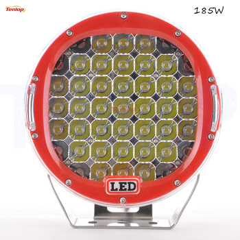 9 Inch Red Black Blue Yellow 185W LED Work Tunning Light For Offroad Wrangler SUV ATV Boat Truck