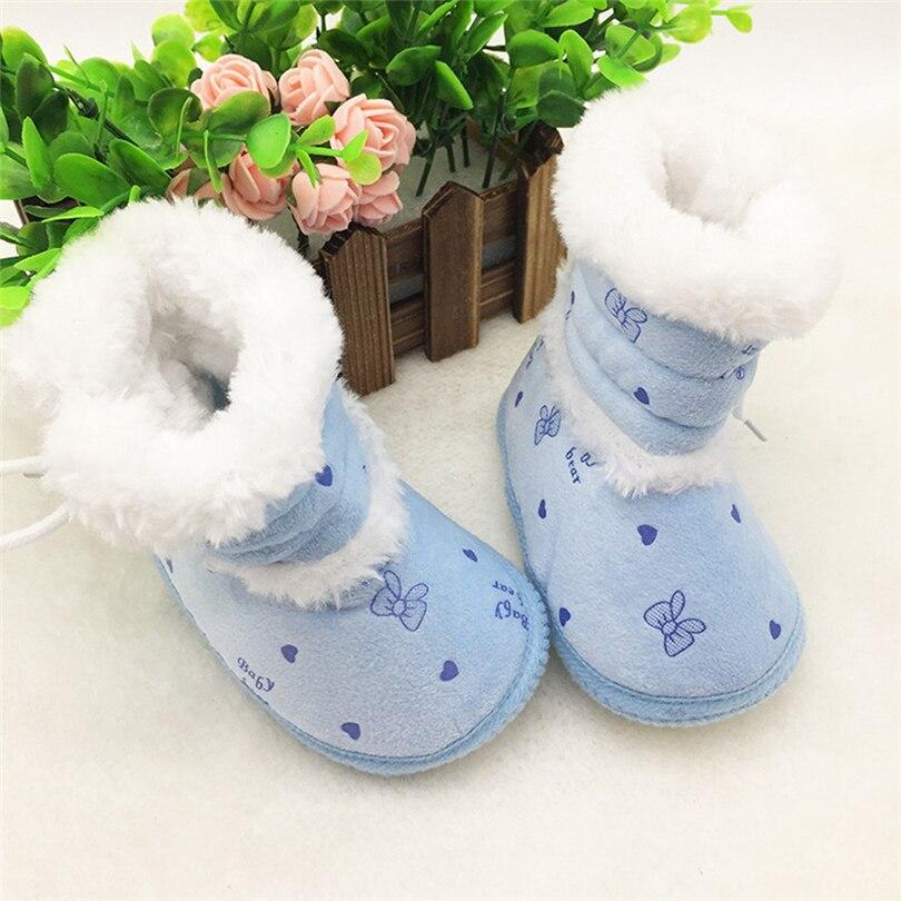 Baby Girls boys Winter Warm Boots Newborn Toddler Soft fleece Sole Shoes 0-18M
