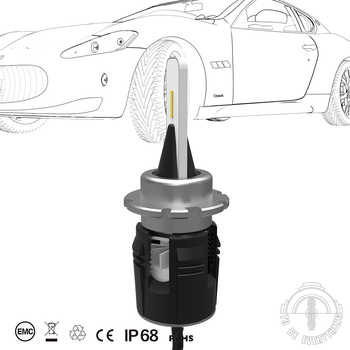 2pcs D1S D2S D3S D4S B6 LED Headlight car Slim Conversion Kit 42W 5200LM CSP Y11 Chips All-in-one Pure White 6000K Car Lamp Bulb
