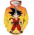 Малыш спокоен Dragon Ball Z Супер Саян Гоку 3D Толстовки С Капюшоном Толстовка Мужчины Женщины Аниме Толстовка Балахон Пуловеры