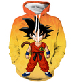 Cool Kid Goku 3D Hoodies Dragon Ball Z Super Saiyan Hooded Sweatshirt Men Women Anime Sweatshirt Hoodie Pullovers