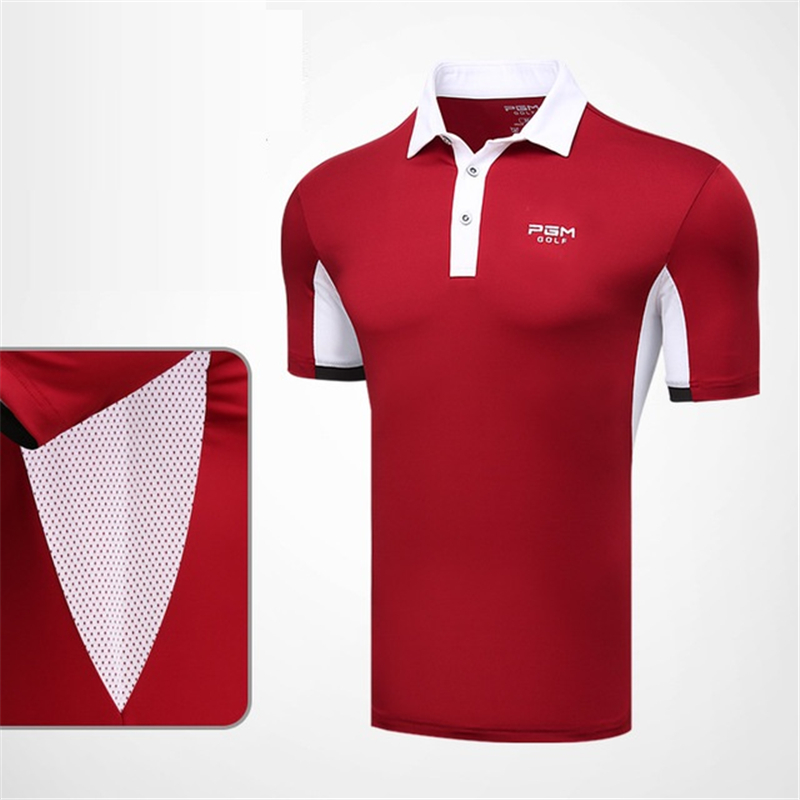 a2ec9193d New Design Mens Golf Tee Shirt Men Breathable Sportswear Training Apparel  Quick Dry Short Sleeve Golf Polo Shirts AA11820-in Golf Trainning T Shirts  from ...