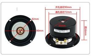 Image 5 - 2 шт./лот Sounderlink 3 полный диапазон частот динамик 3 дюйма 90 мм блок с алюминиевой пулевой головкой каптон конус