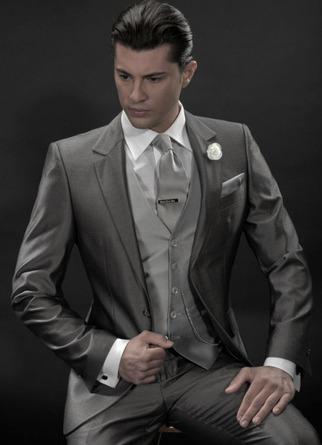 2017 Handsome Men S Wear Gray Wedding Suit Groom Tuxedo 3 Pieces Include