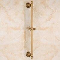 IMPEU Bathroom Hand Shower Slide Bar, Adjustable Sliding Showerhead Bracket Holder, Antique Brass Finishes, Designer Collection