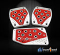 Manual Car Pedals Cover Foot Rest Nonslip Pad Safe Accelerator Brake Clutch Red PVC Free Shipping C10