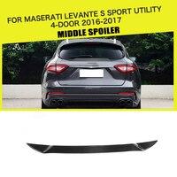 Carbon Fiber Rear Lip Middle Spoiler Window Wing for Maserati Levante S Sport Utility 4 Door