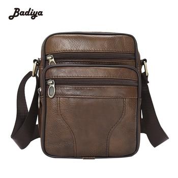 Brand Designer Brown Shoulder Handbags New News Genuine Cowhide Leather Men's Bag Vintage Male Men Messenger Bags