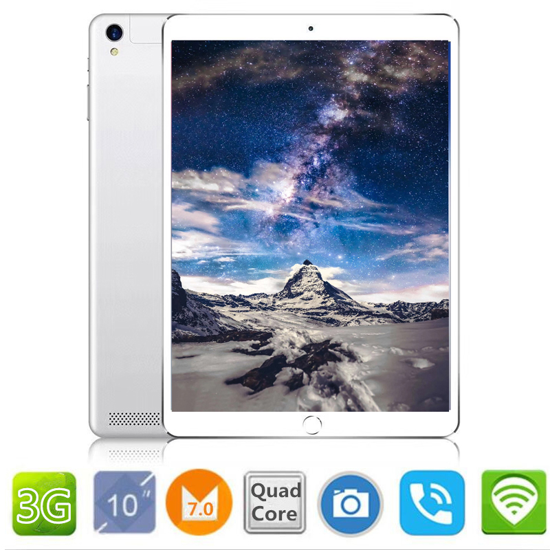 цена на 2018 10.1 inch official Original 3G Phone Call Google Android 7.0 Quad Core IPS pc Tablet WiFi 2GB+16GB 7 9 10 metal tablet pc