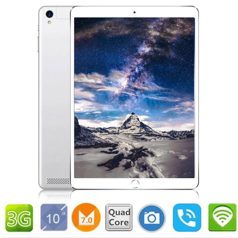 2018 10.1 pouce officiel D'origine 3g Appel Téléphonique Google Android 7.0 Quad Core IPS Tablet pc WiFi 2 gb + 16 gb 7 9 10 métal tablet pc
