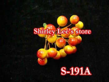 Wholesale----144 bunches=1728pcs X 12mm Berries On Wire Stem, Artificial Craft Berries(S-191A) *Free Shipping*