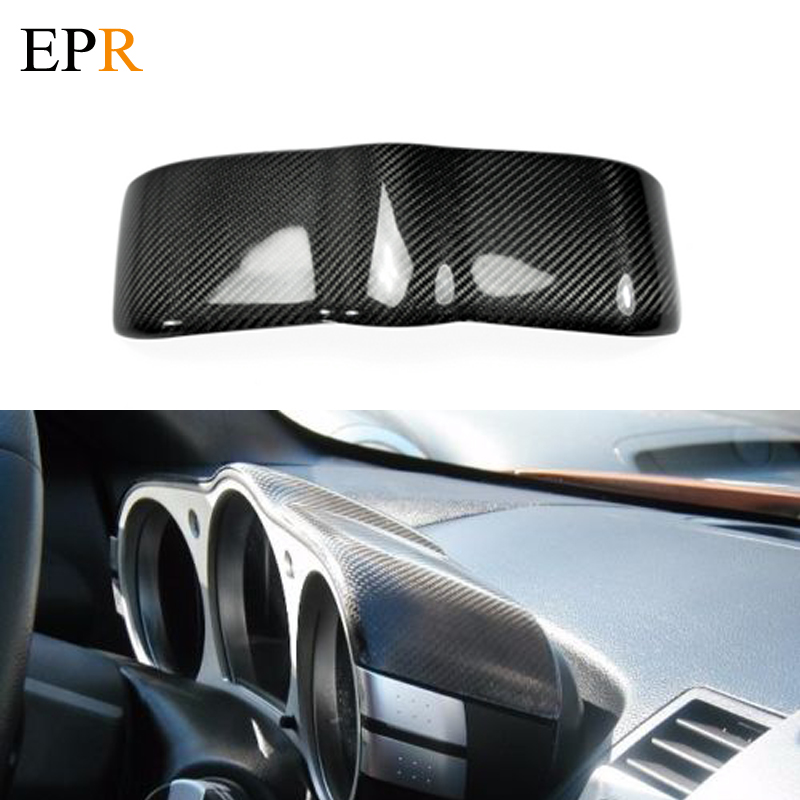 Car Accessories 350Z Z33 Carbon Fiber Dial Dash Cover Glossy Fibre Finish Dial Dash Interior Parts For Nissan 350z Car Styling epr car styling for nissan skyline r33 gtr type 2 carbon fiber hood bonnet lip