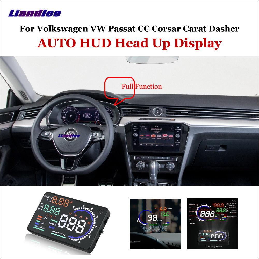 liandlee car hud head up display for vw passat cc corsar. Black Bedroom Furniture Sets. Home Design Ideas