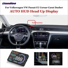 Liandlee Car HUD Head Up Display For VW Passat CC Corsar Carat Dasher 2015-2018 Safe Driving Screen OBD Projector Windshield дефлекторы на окна voron glass corsar volkswagen passat cc ii 2012 н в комплект 4шт def00648
