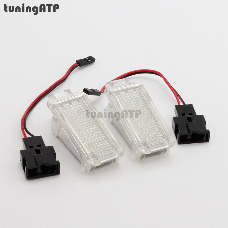 18-SMD LED Interior Lamp Door Courtesy Lights Trunk Light Foot Lights for VW Tiguan Phaeton Sharan Transporter T5