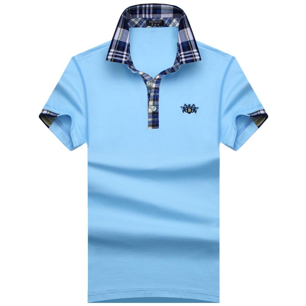 SHABIQI Classic Brand Men shirt Men   Polo   Shirt Men Short Sleeve   Polos   Shirt Cotton & Breathable   Polo   Shirt Plus Size S-10XL