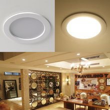 [DBF] AC85-265V LED Down lights 7W 10W 12W LED Downlight Warm white/cold white Led Ceiling Lamp Home Indoor Lighting bulb