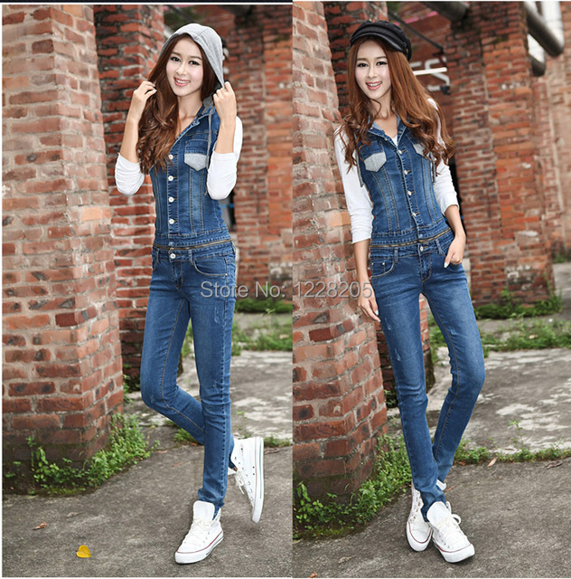 Collection Denim Jumpsuits And Rompers Pictures - Reikian