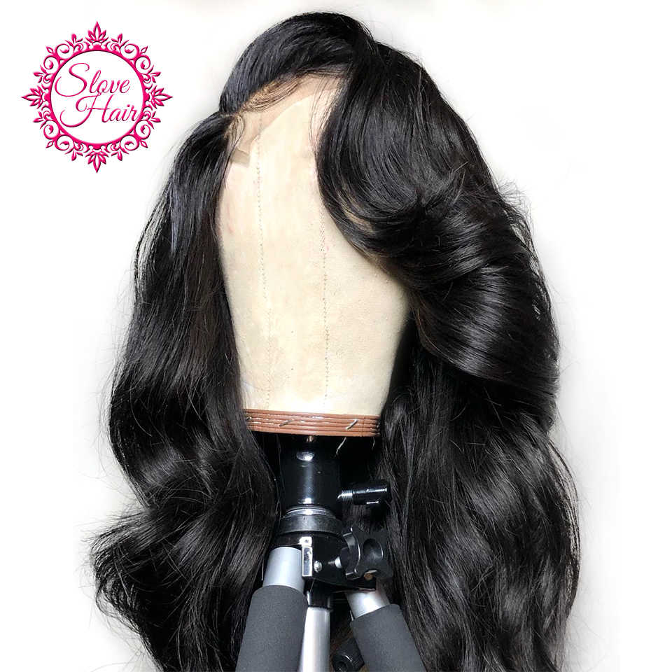 Body Wave Lace Front Human Hair Wigs For Women Natural Black Lace Wigs Frontal Plucked With Baby Hair Remy Brazilian Slove