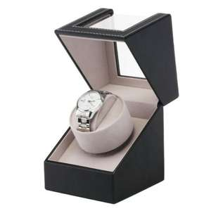 Single Automatic Watch Winder Box Display Leather Watch Organizer Case Gifts UK