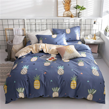Cartoon Fruit pineapple 3/4pcs Bedding sets new style duvet cover quilt cover comfortable bed sheet pillow cases sell well