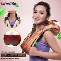 U Shape Electrical Shiatsu Back Neck Shoulder Massager Body Infrared 3D Neck Waist Back Kneading Massager