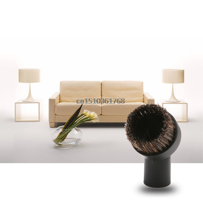 Horse Hair Round Dusting Brush Dust Tool Parts For Vacuum Cleaner Round 32mm New #Y05# #C05# vacuum cleaning kit attachement kit dusting dusting brush nozzle crevices tool upholster tool for 32mm