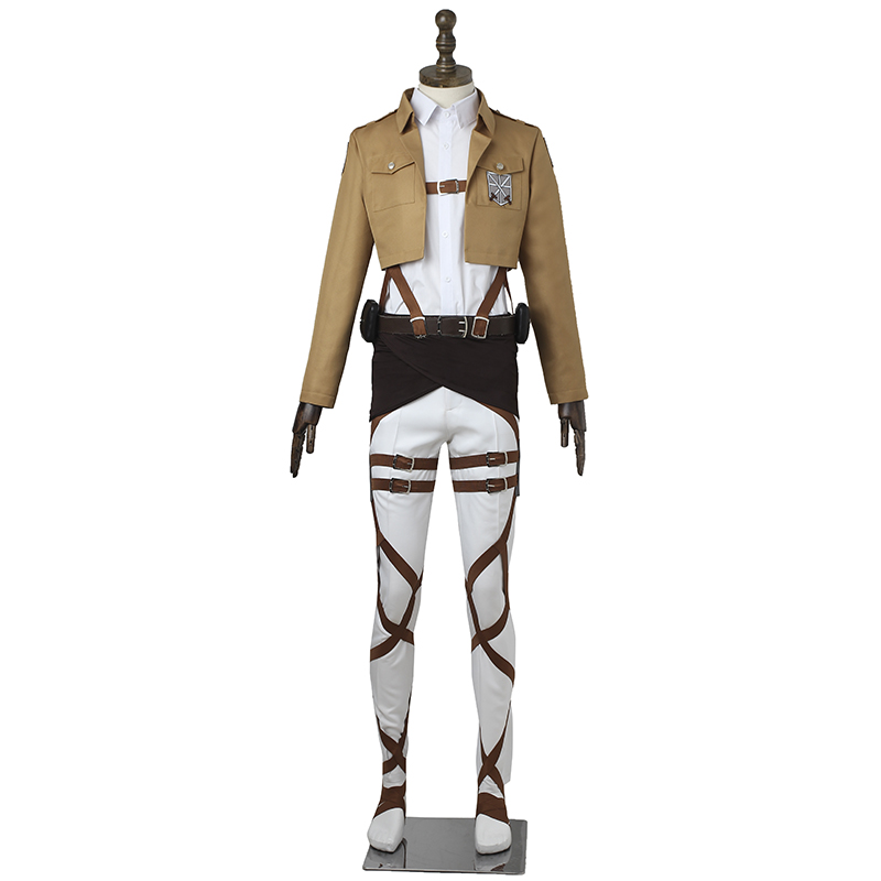 Attack on Titan Cosplay Costume Training Corps Cosplay Anime Shingeki no Kyojin Battle Costume Halloween Adult Custom Made стоимость