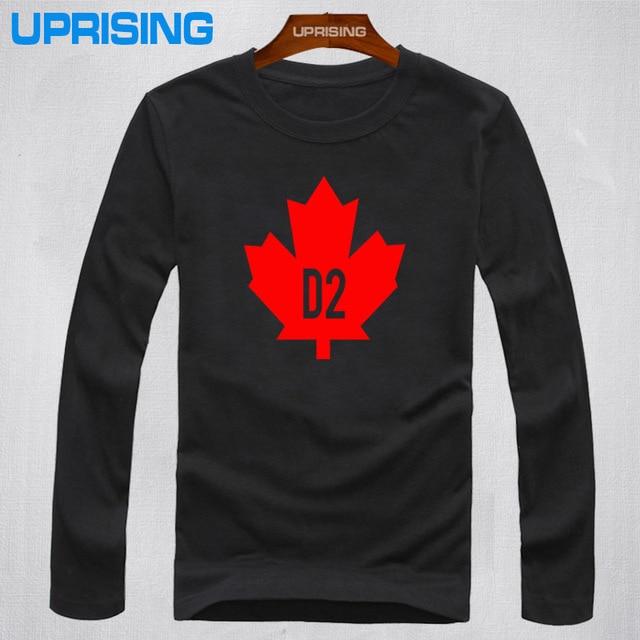 Free Shipping Classic Tops Vintage Women's T-Shirts D2 DSQ Men's Long Sleeve Casual T-Shirt