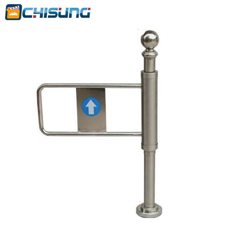 Mechanical Swing Gate / Manual Turnstile/ Supermarket Turnstile can automatic reset hand push turnstile manual turnstile mechanical turnstile gate for access control