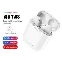 Original Bluetooth 5.0 Wireless Earphone i88 TWS Touch In-Ear Headphone for iphone huawei xiaomi Andorid Samsung Mini Headset original xiaomi piston colorful version in ear earphone headset microphone headphone for iphone xiaomi