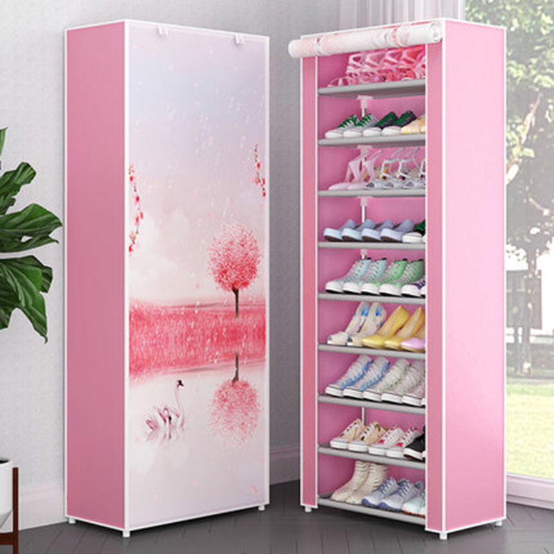 Simple Multi-layer Shoe Rack Dormitory Dust-proof Assembly Shoe Cabinet Household Living Room Storage Cabinet Furniture