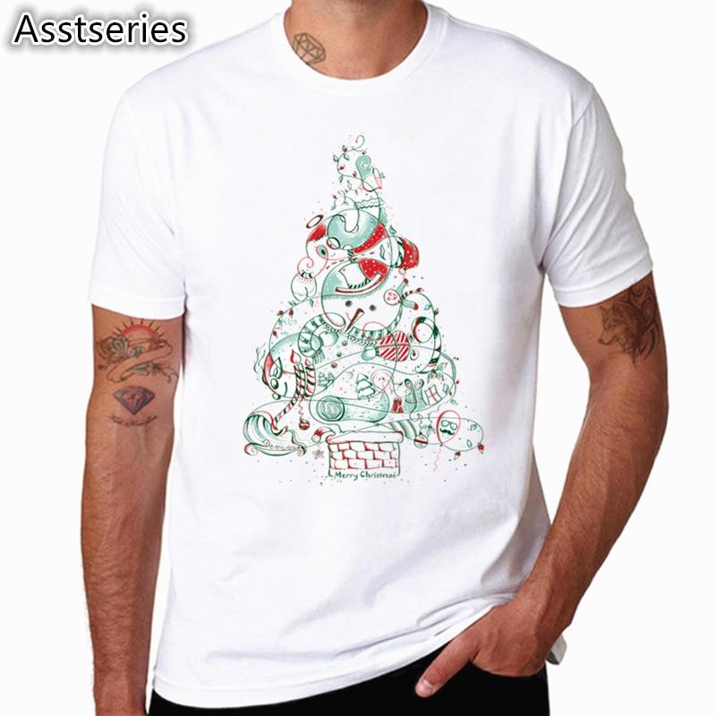 2838daa9ecc8 Asian Size Men And Women New Year Christmas Fashion T-shirt O-Neck Short